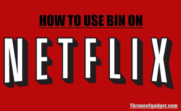 how to use bins for netflix amazon