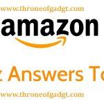 amazon app quiz contest todays answers